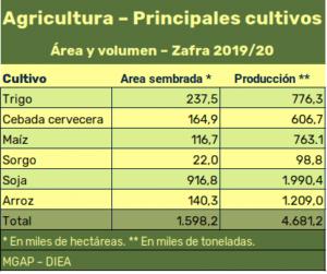 Agricultura - Principales cultivos